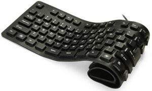 Гибкая беспроводная клавиатура – новинка гаджетов